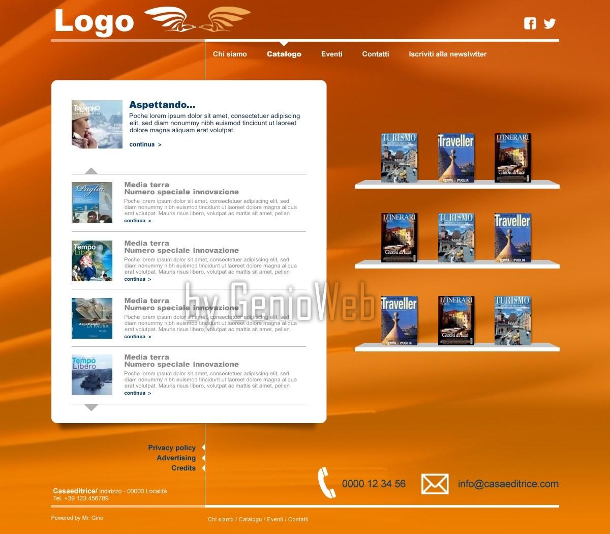 Siti web e portali realizzati col cms mrgino template for Sito web design piano piano